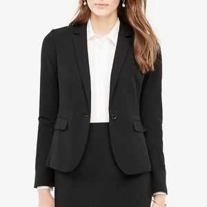 Ann Taylor jacket blazer coat black 12 pockets